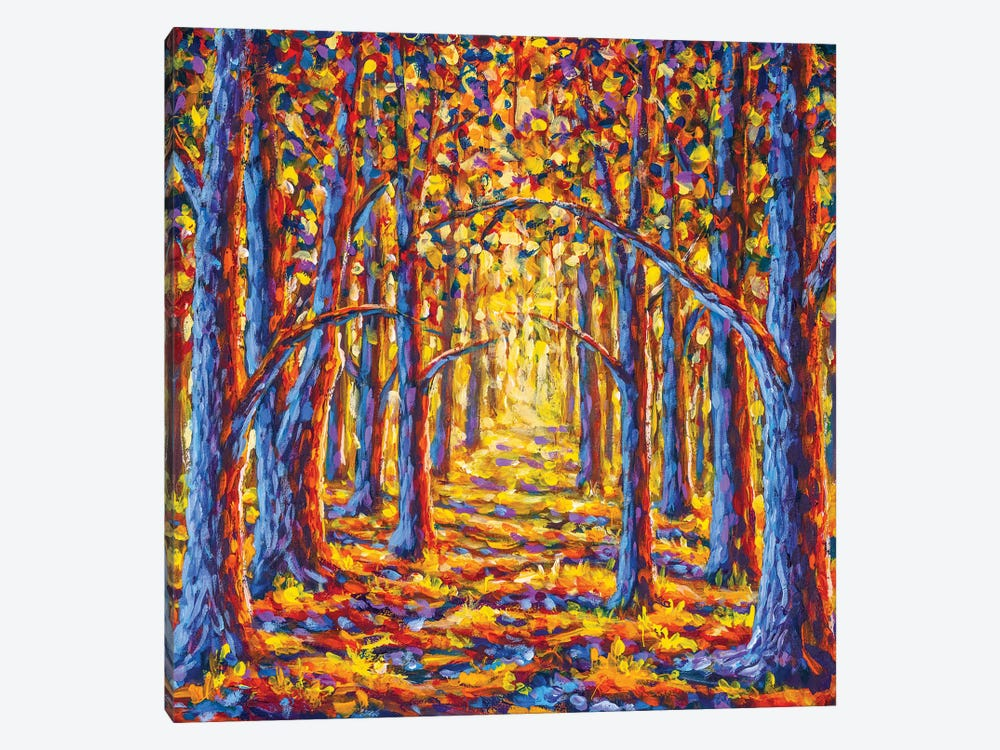 Painting Gold Autumn Trees In Forest by Valery Rybakow 1-piece Canvas Art Print