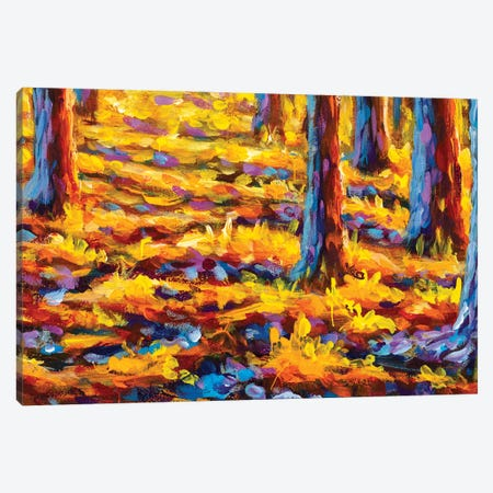 Gold Autumn Impressianism Painting Canvas Print #VRY458} by Valery Rybakow Art Print