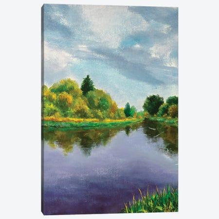 Autumn Trees On Lake Canvas Print #VRY460} by Valery Rybakow Canvas Wall Art