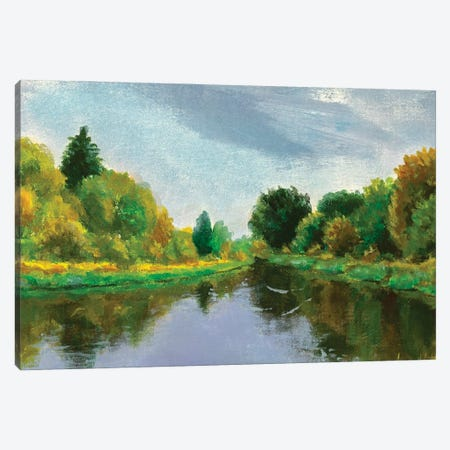 Spring On River Canvas Print #VRY461} by Valery Rybakow Canvas Wall Art