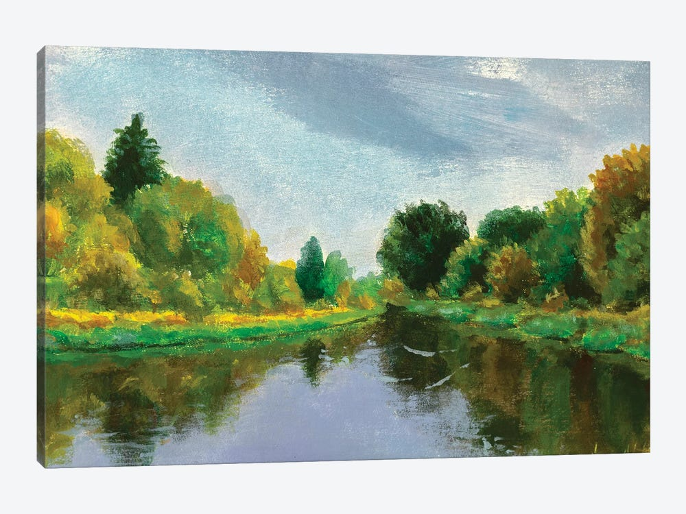 Spring On River by Valery Rybakow 1-piece Canvas Wall Art