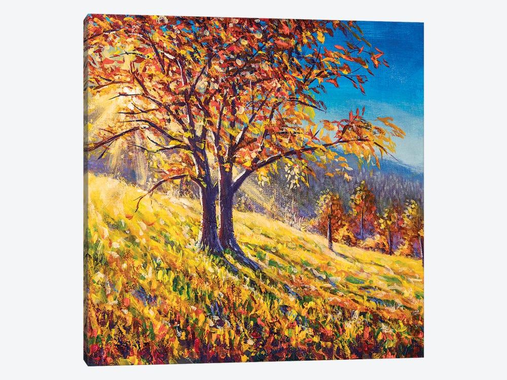 Fantastic Sunset With Autumn Tree by Valery Rybakow 1-piece Art Print