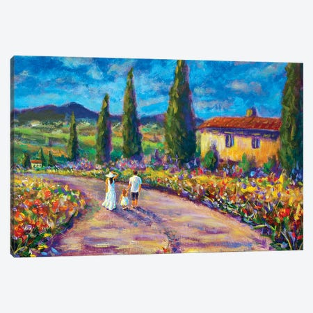 Happy Family in Summer In Tuscany Canvas Print #VRY46} by Valery Rybakow Canvas Art Print