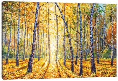 Birch Autumn Forest - Impressionism Painting Canvas Art Print