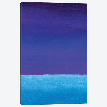 Blue Violet And Cyan Gradient Canvas Print #VRY484} by Valery Rybakow Canvas Art Print