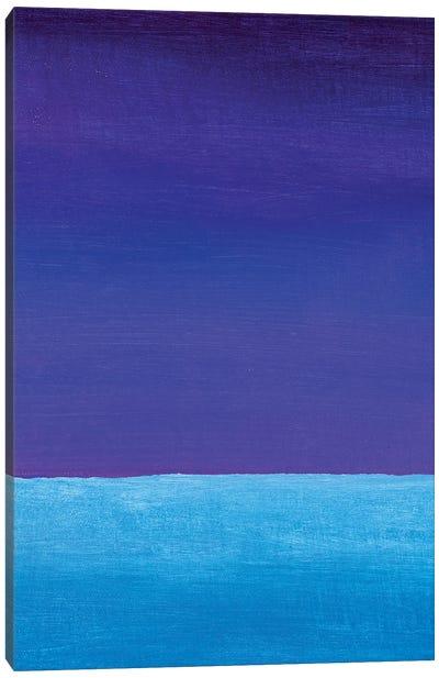 Blue Violet And Cyan Gradient Canvas Art Print