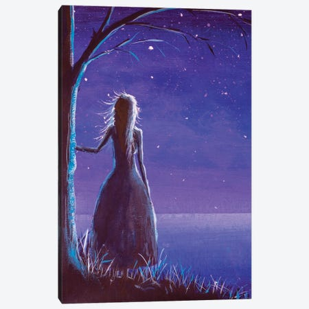 Princess Making A Wish In Night Canvas Print #VRY485} by Valery Rybakow Canvas Print