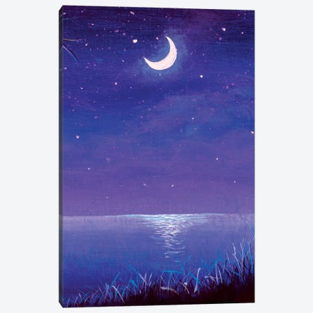 Night Seascape Canvas Print #VRY486} by Valery Rybakow Canvas Print