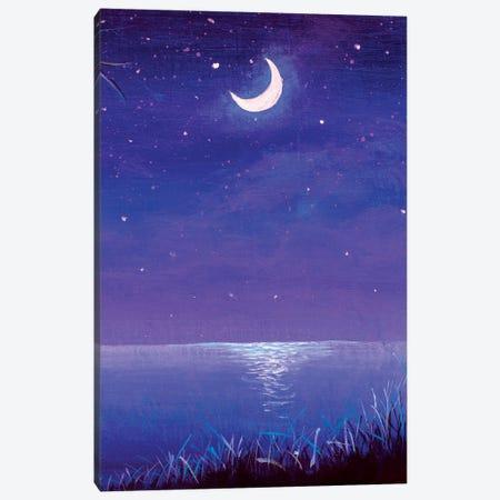 Night Seascape Canvas Print #VRY486} by Valery Rybakow Canvas Print