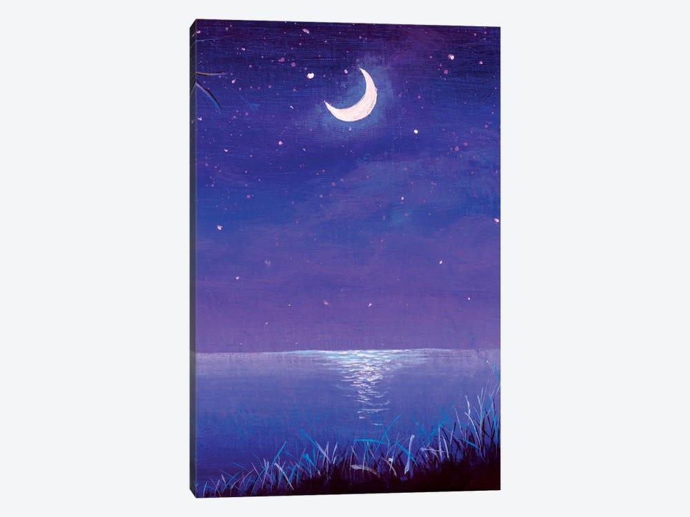 Night Seascape by Valery Rybakow 1-piece Canvas Print