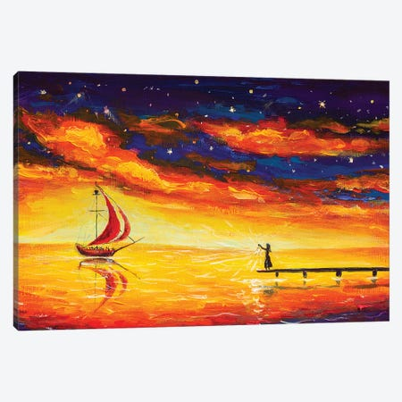 I Am Always Waiting For You Canvas Print #VRY48} by Valery Rybakow Canvas Art