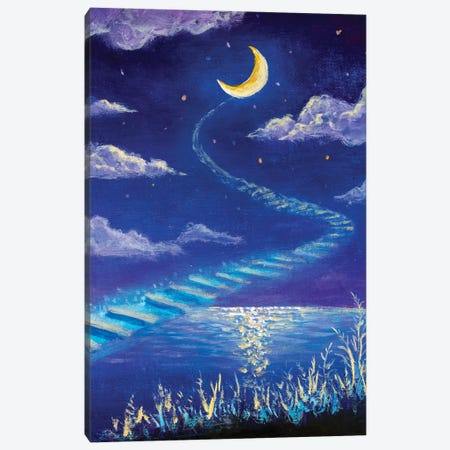 Magic Road To The Moon Canvas Print #VRY491} by Valery Rybakow Canvas Print