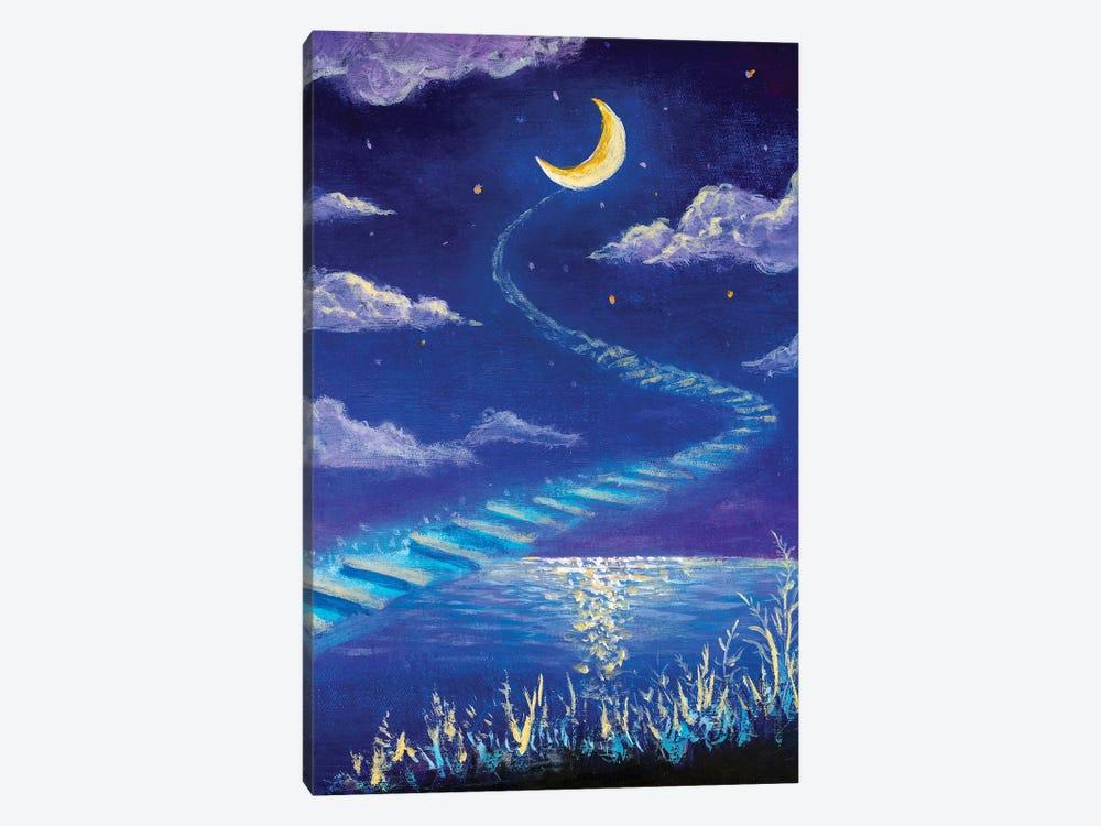 Magic Road To The Moon by Valery Rybakow 1-piece Canvas Art Print
