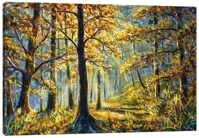 Synny forest oil painting Canvas Art Print
