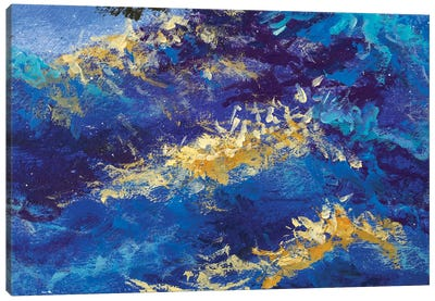 abstract blue waves Canvas Art Print