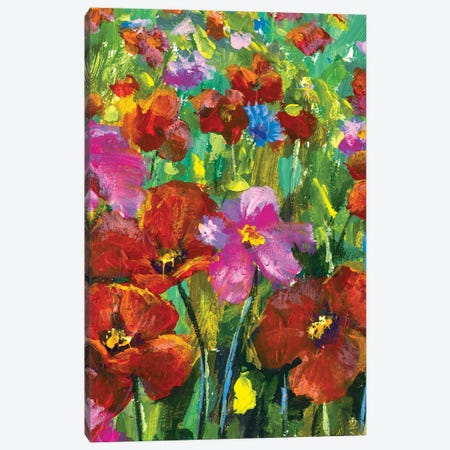 Summer field of flowers Canvas Print #VRY501} by Valery Rybakow Canvas Art Print