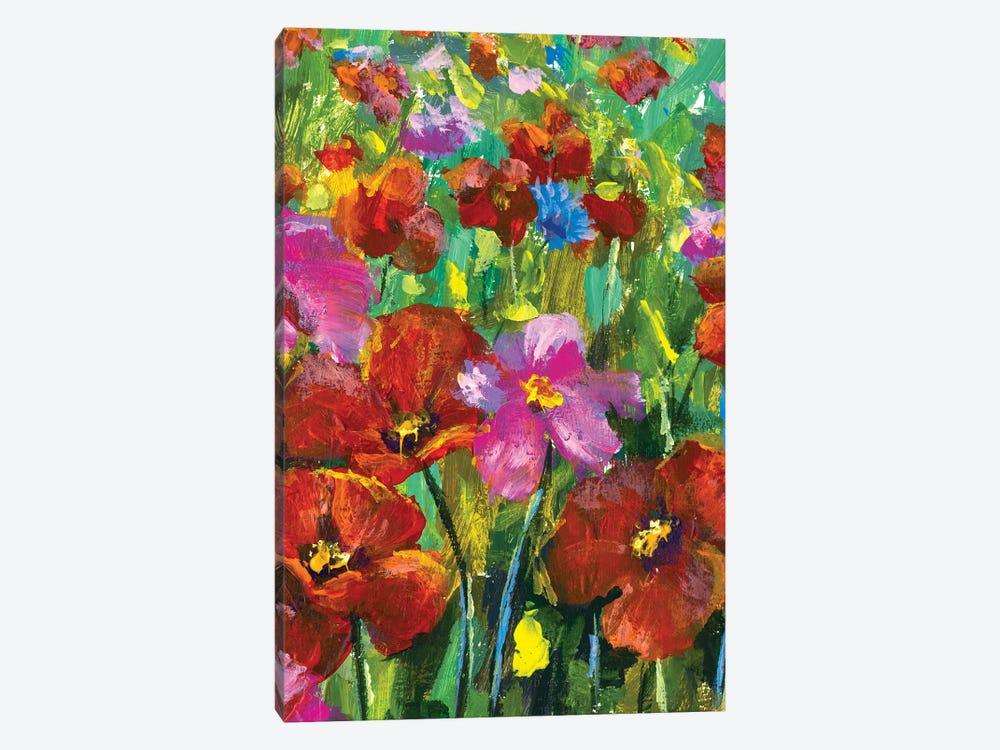 Summer field of flowers by Valery Rybakow 1-piece Canvas Art Print