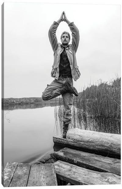 Yoga On The Pond Canvas Art Print