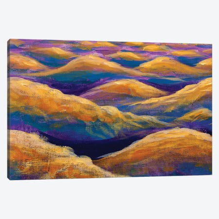 Fantasy Art Relaxation Sea Waves Or Desert Mountains Hills Canvas Print #VRY526} by Valery Rybakow Canvas Artwork