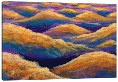 Fantasy Art Relaxation Sea Waves Or Desert Mountains Hills Canvas Art Print