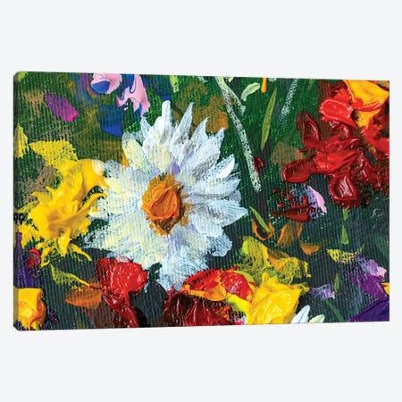 Big Wild Flower White Chamomile Canvas Print #VRY536} by Valery Rybakow Canvas Art Print
