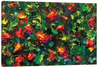 Impressionism Red Flowers Canvas Art Print