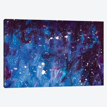 Painting Universe Blue Night Dreamlike Cosmos Fantasy Art Canvas Print #VRY548} by Valery Rybakow Canvas Art Print