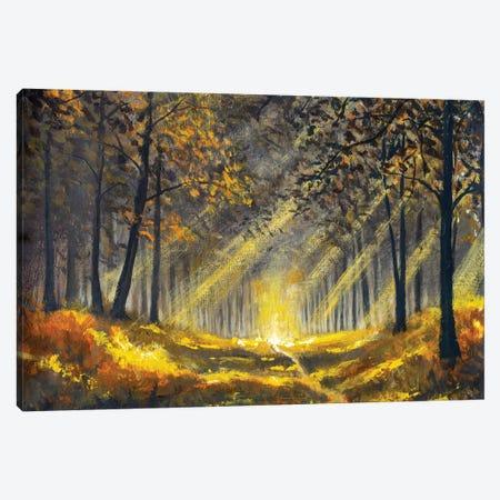 Spring Summer Sunny Forest Park Canvas Print #VRY555} by Valery Rybakow Art Print