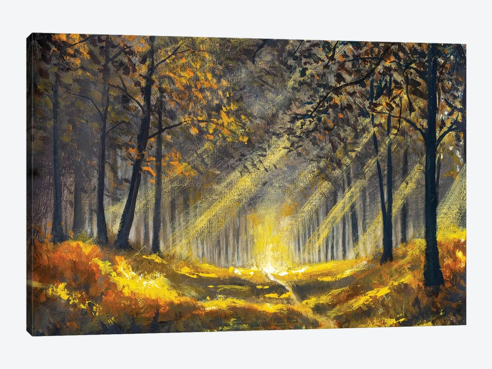 Spring Summer Sunny Forest Park by Valery Rybakow 1-piece Canvas Artwork