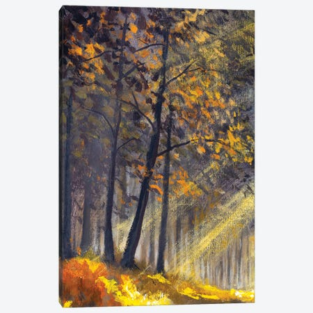 Spring Summer Sunny Trees In Forest Park Artwork Canvas Print #VRY556} by Valery Rybakow Canvas Print