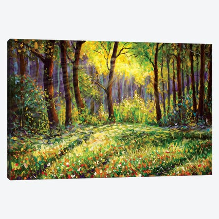 In Sunny Forest Canvas Print #VRY55} by Valery Rybakow Canvas Artwork