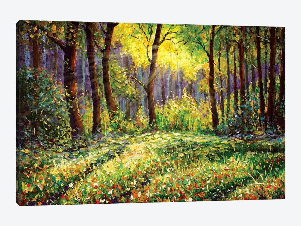 In Sunny Forest by Valery Rybakow 1-piece Canvas Artwork