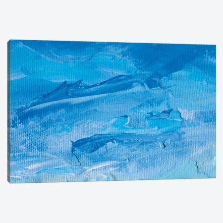 Blue Sky Close-Up Oil Painting Impressionism Illustration Artwork Canvas Print #VRY560} by Valery Rybakow Art Print
