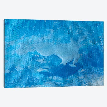 Blue Clouds Highly-Textured Colorful Abstract Painting Background Canvas Print #VRY561} by Valery Rybakow Canvas Art Print