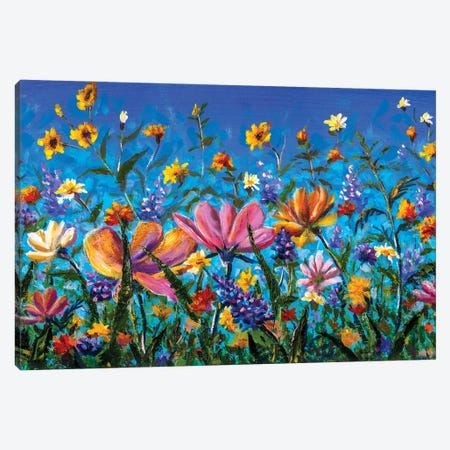 Flowers Painting Canvas Print #VRY586} by Valery Rybakow Canvas Wall Art