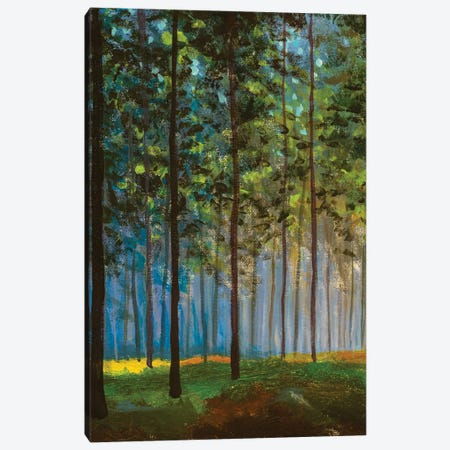Oil Paintings Landscape, Spring, Tree In Forest Landscape Canvas Print #VRY608} by Valery Rybakow Canvas Art