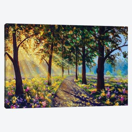 Sunny Forest Landscape Art Canvas Print #VRY611} by Valery Rybakow Art Print