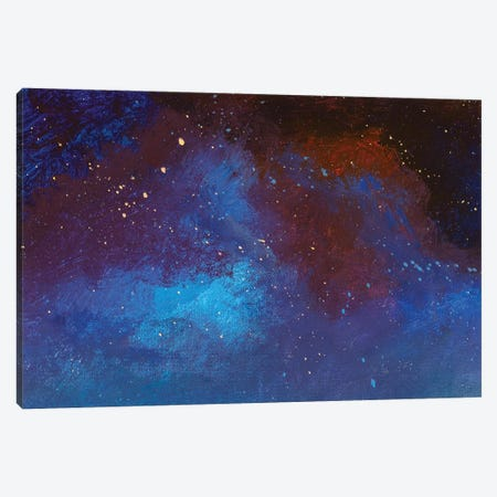 Hand Painted Acrylic Painting Beautiful Starry Sky Universe Space Canvas Print #VRY613} by Valery Rybakow Art Print