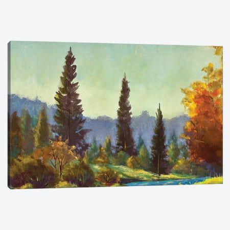 Summer Autumn Forest Landscape Canvas Print #VRY620} by Valery Rybakow Canvas Art