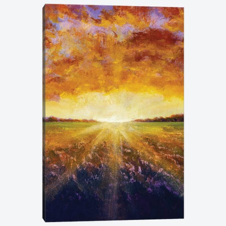 Vertical Painting Of Rural Landscape Canvas Print #VRY628} by Valery Rybakow Canvas Art