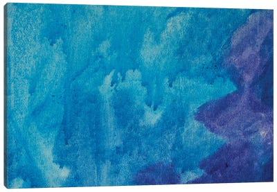 Abstract Art Background Blue Color Canvas Art Print