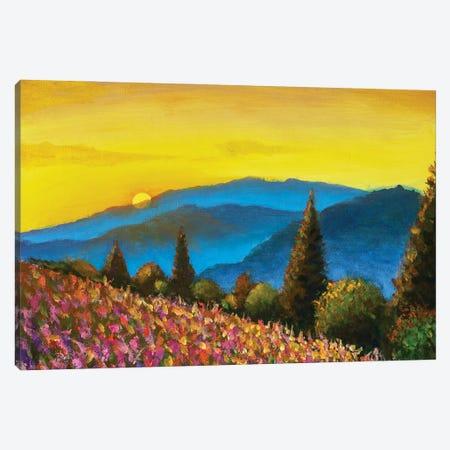 Tuscany Summer Italian Landscape Artwork Canvas Print #VRY643} by Valery Rybakow Canvas Wall Art