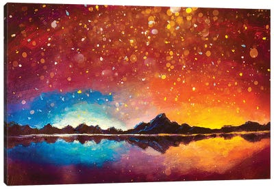 Magic Glowing In Mountains Canvas Art Print