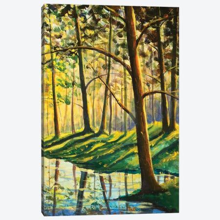 Warm Spring Forest Summer Landscape Canvas Print #VRY663} by Valery Rybakow Canvas Art