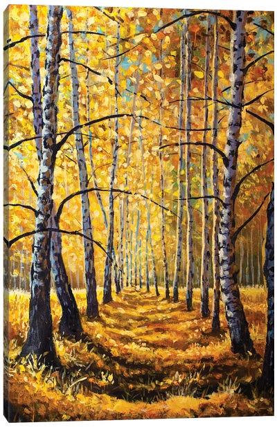 Painting Sunny Autumn Forest Canvas Art Print