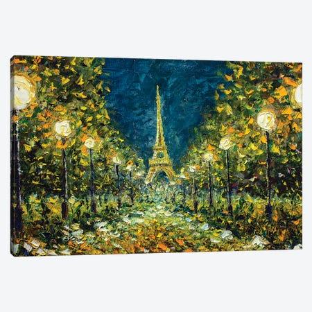 Night Paris Canvas Print #VRY70} by Valery Rybakow Canvas Print