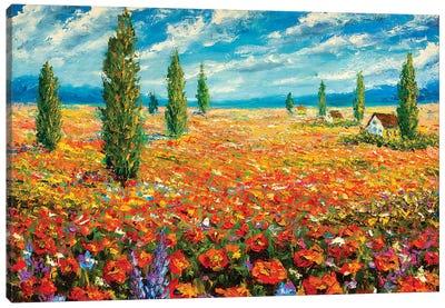 Red Flowers Dream Canvas Art Print