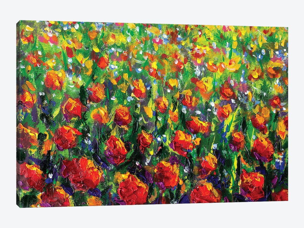 Red Rose Field by Valery Rybakow 1-piece Canvas Wall Art