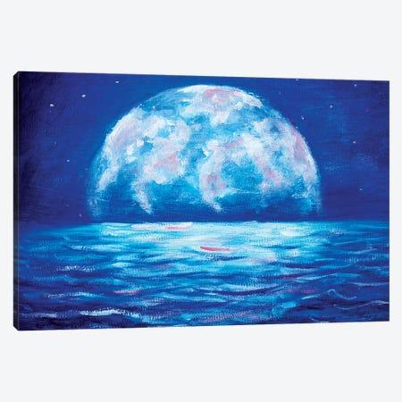 Big Moon Canvas Print #VRY7} by Valery Rybakow Art Print