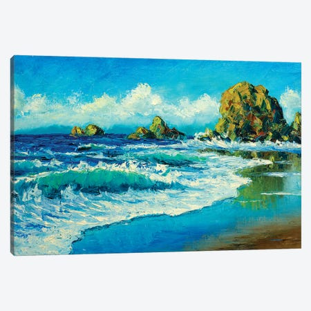 Summer In Sea Canvas Print #VRY93} by Valery Rybakow Canvas Print